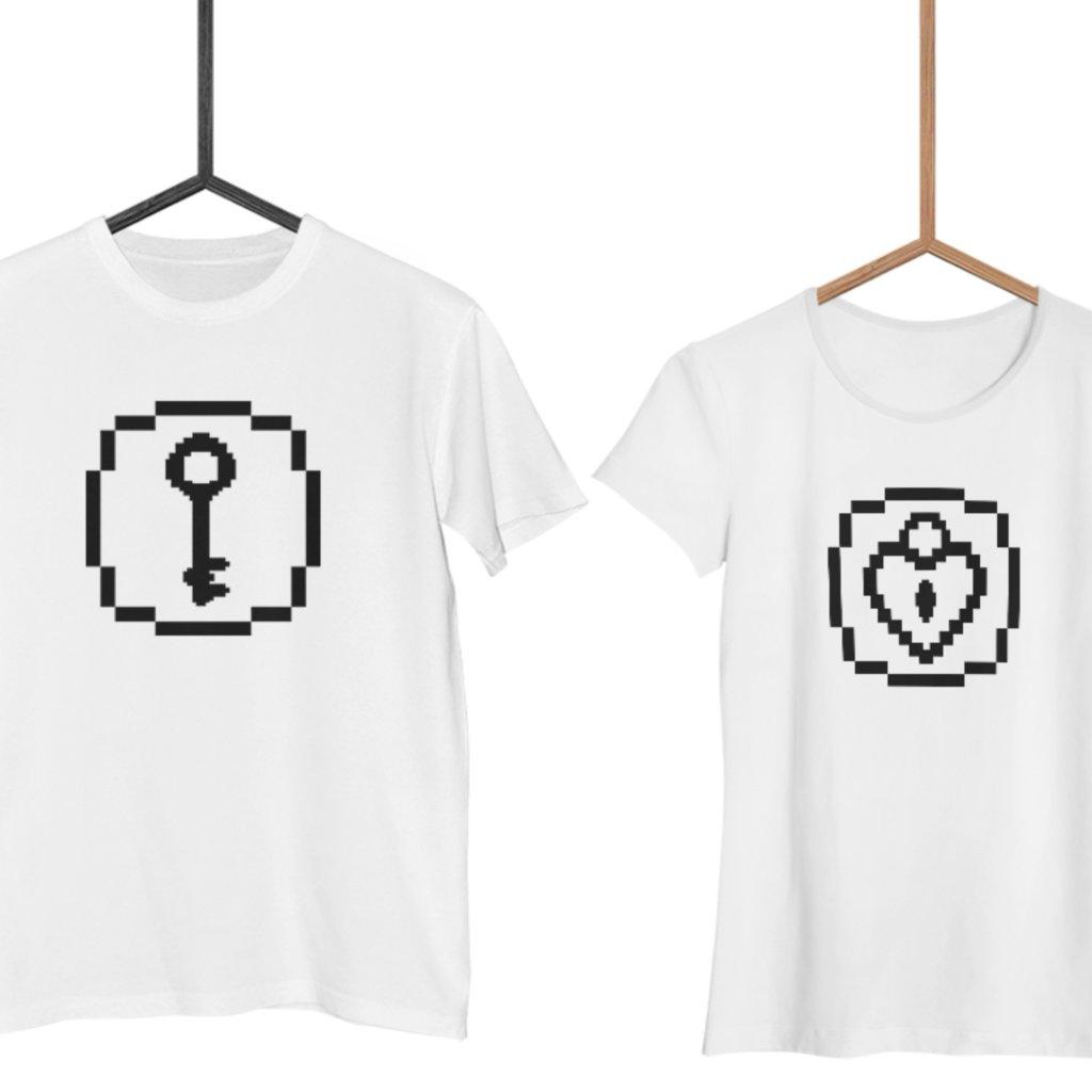 Trička Key to Heart (cena za obě trička)