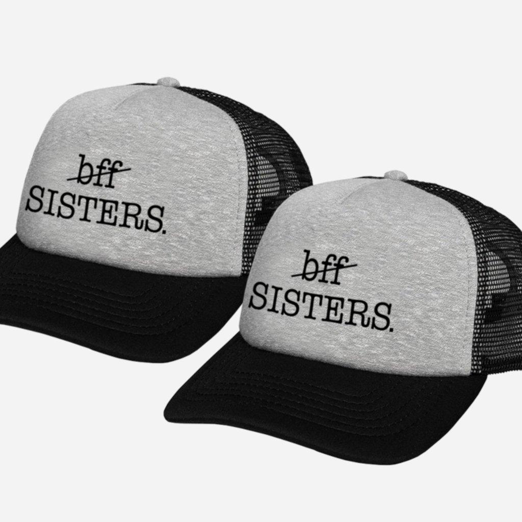 Set kšiltovek BFF SISTERS Trucker Grey