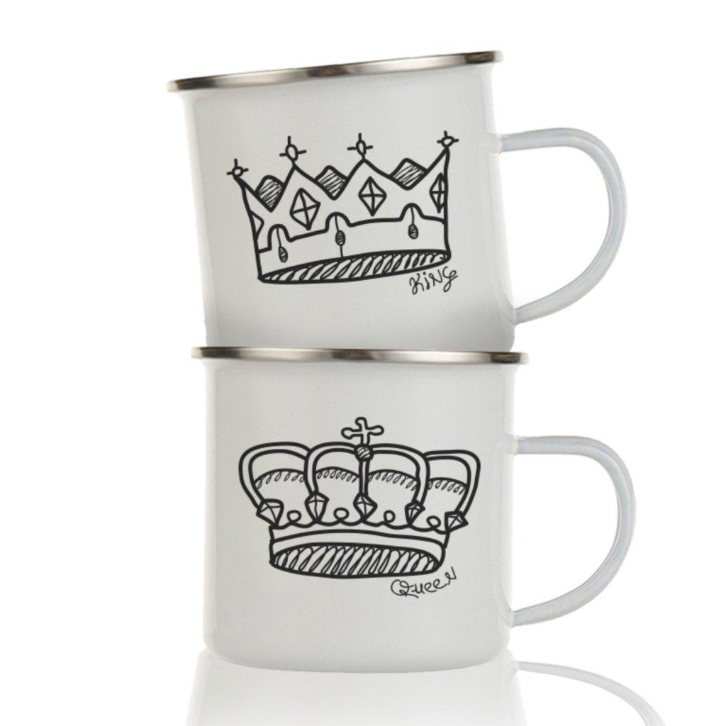 Párové plecháčky Sketch Crown (cena za oba)