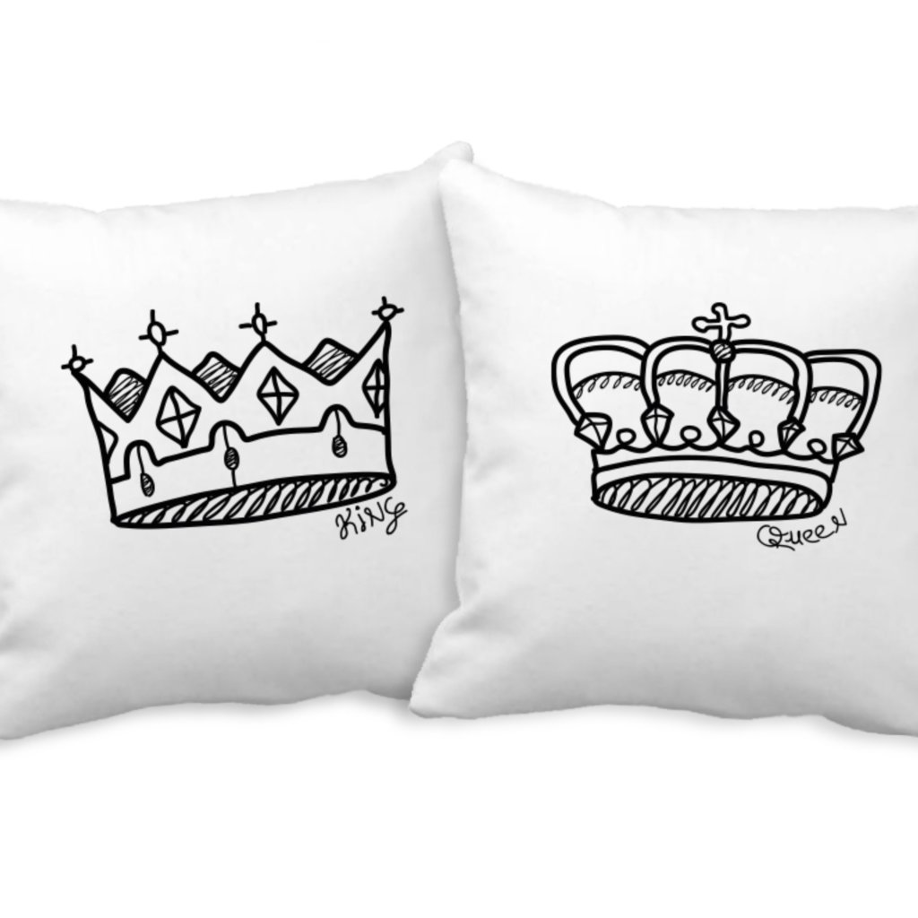 Polštářky Crown sketch (cena za oba kusy)