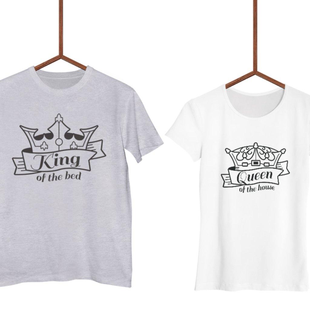 Párová trička King of the bed (cena za obě trička)