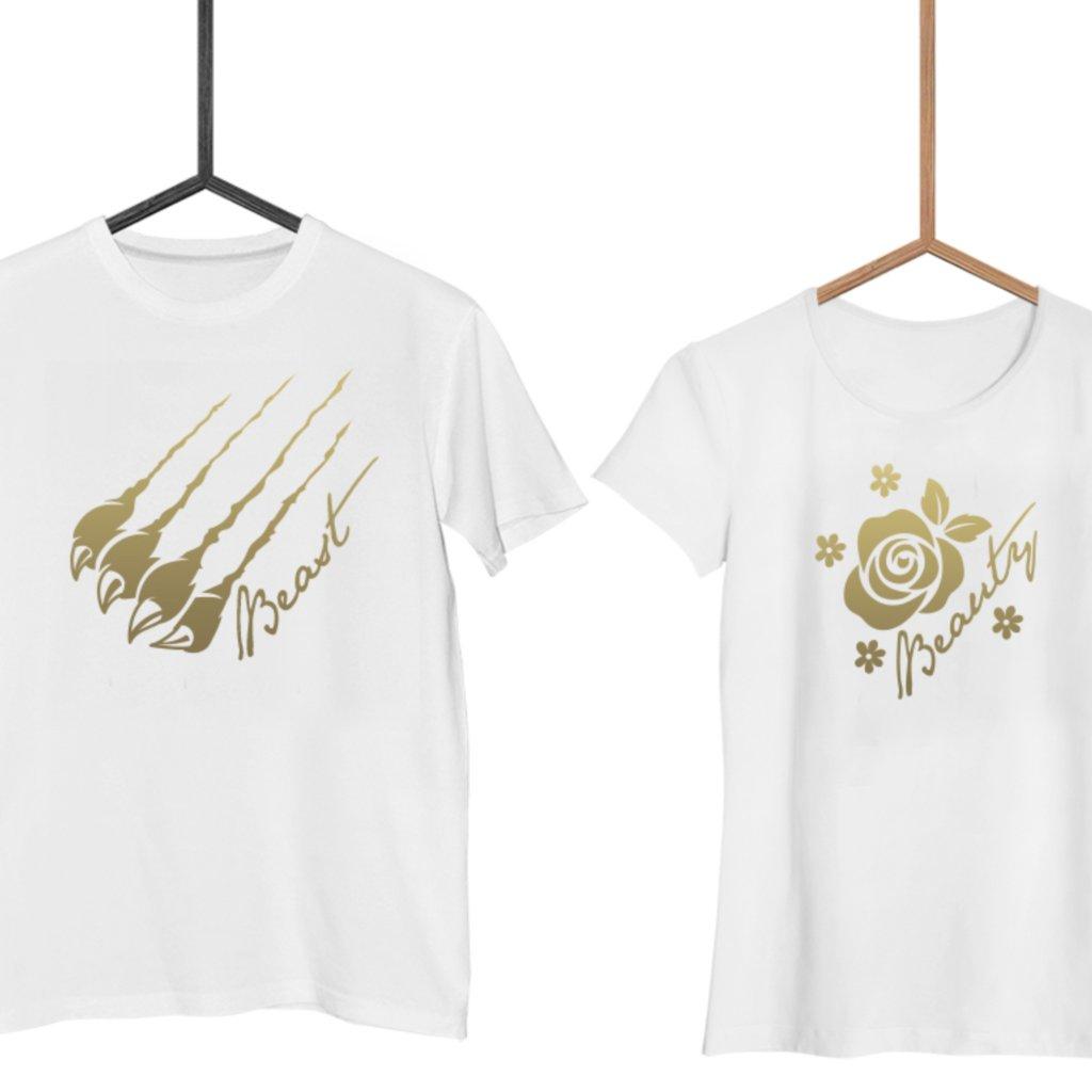 Párová trička Beast & Beauty GOLD (cena za obě trička)
