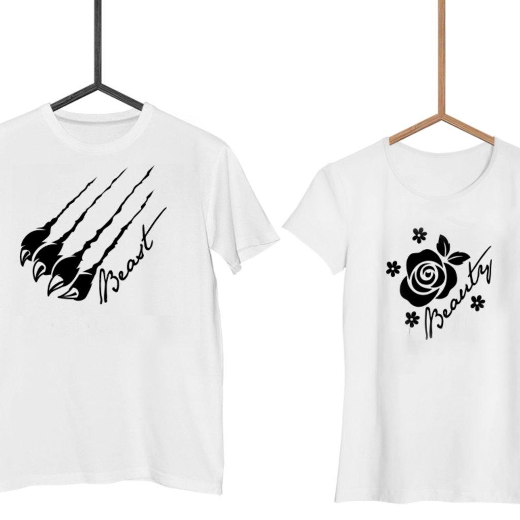 Párová trička Beauty & Beast (cena za obě trička)