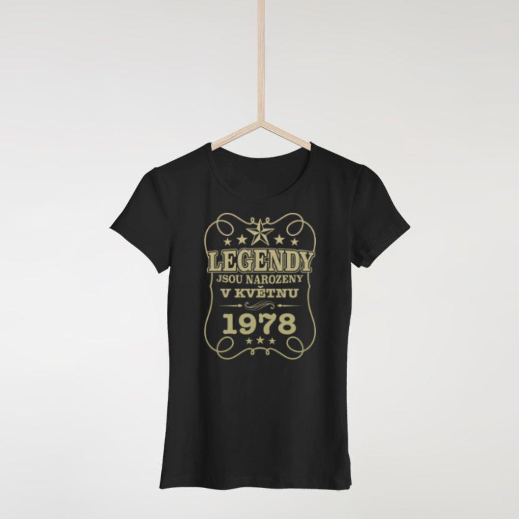Legendy jsou narozeny - Dámské tričko (Měsíc a rok na přání)