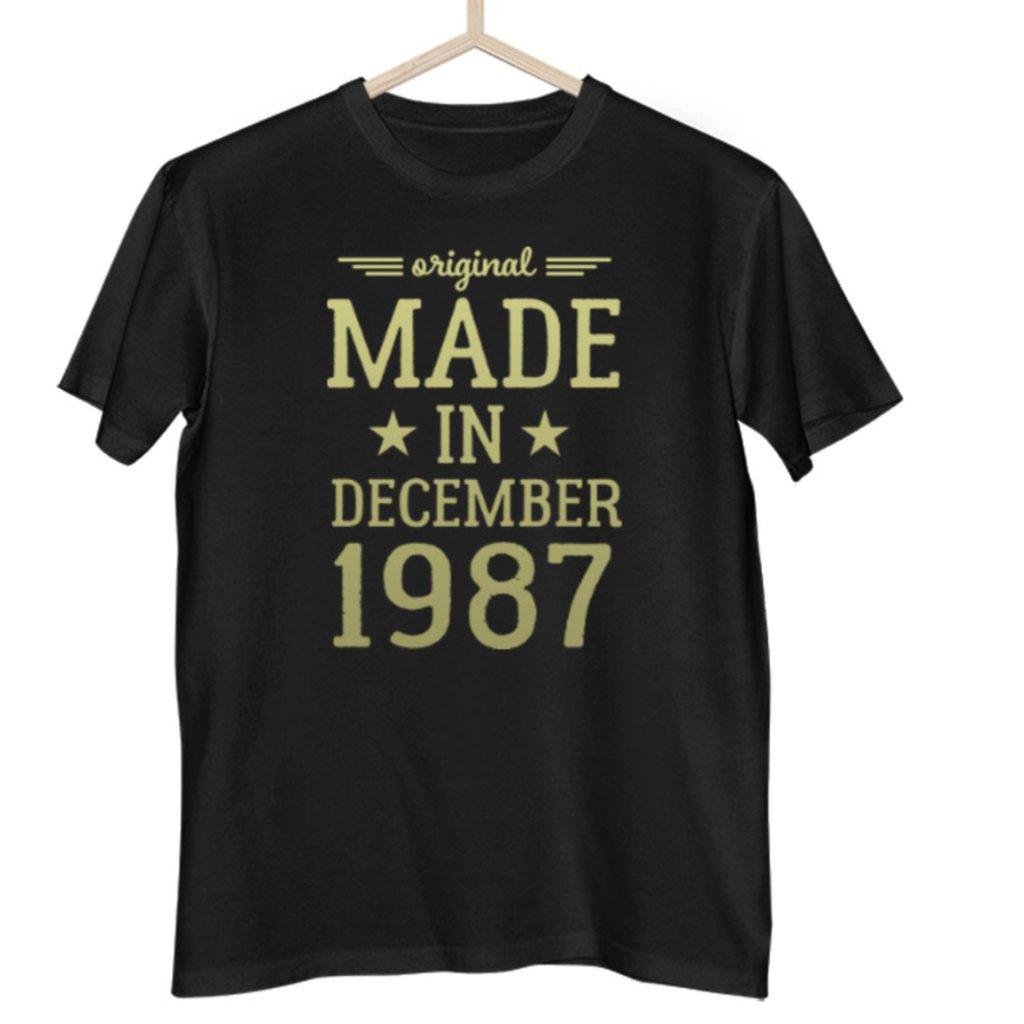 Made in- Pánské tričko (Měsíc a rok na přání)