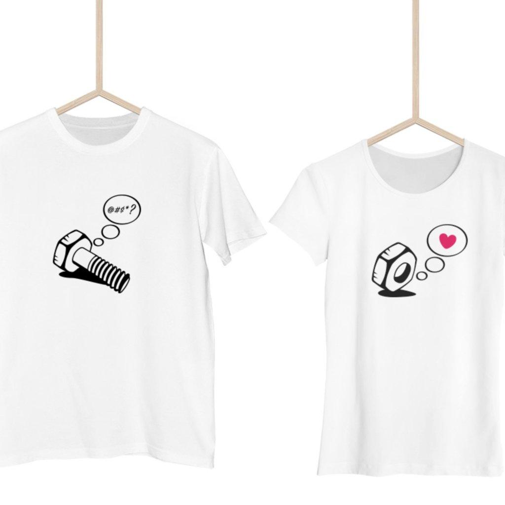 Párová trička Matka a Šroub (cena za obě trička)