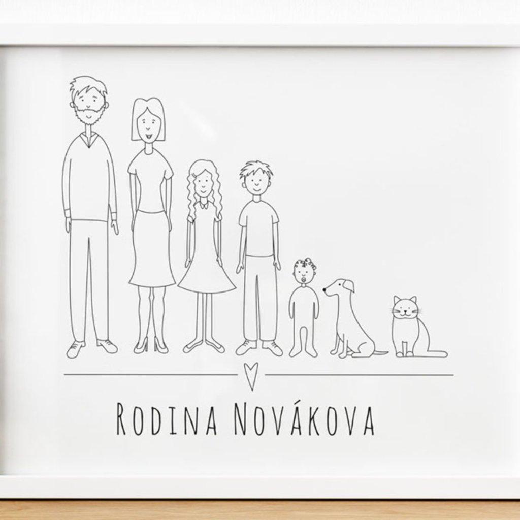 Vlastní potisk - Obraz na zeď Rodina