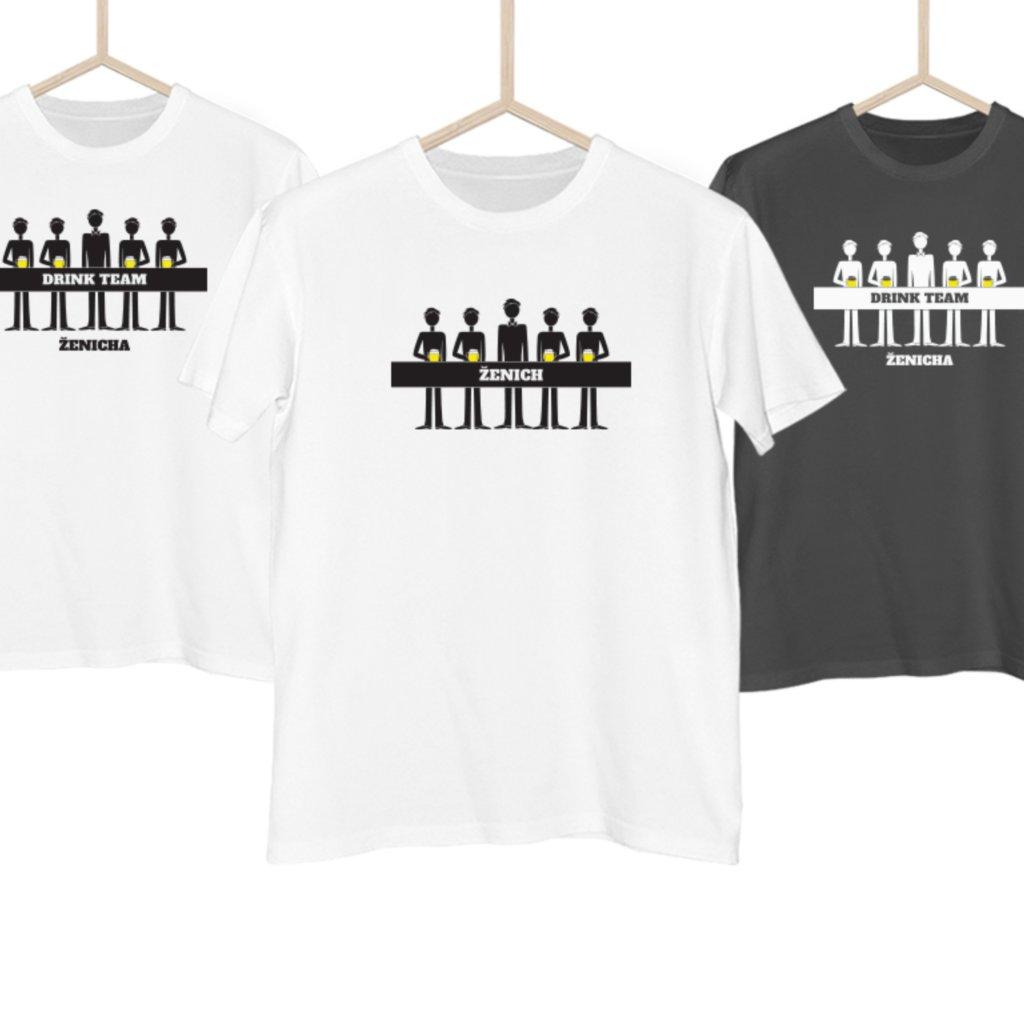 Set triček Drinking team ženicha