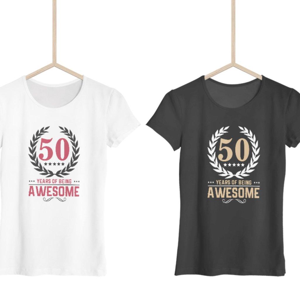 Being awesome - Dámské tričko (věk na přání)