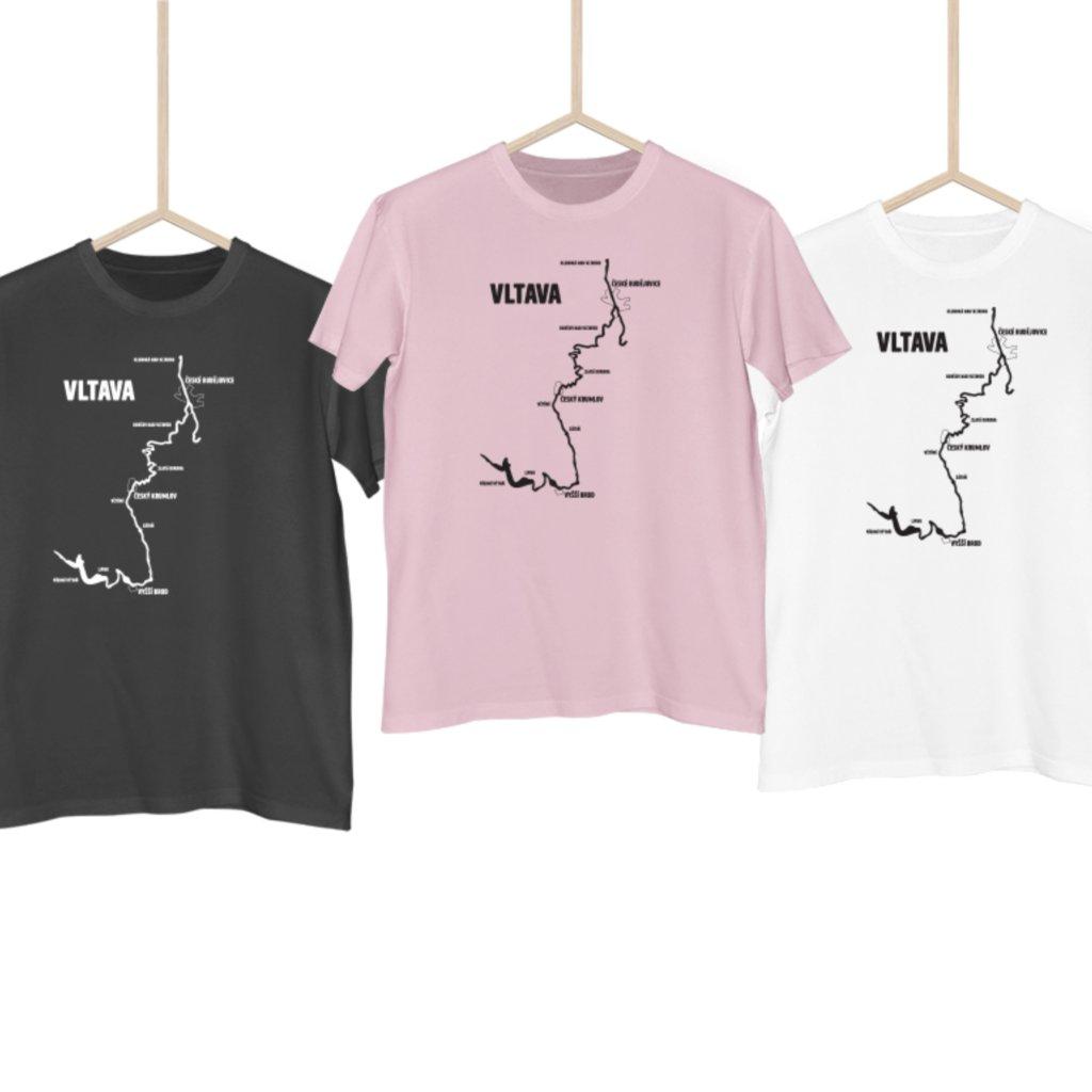 Vodácké tričko - Mapa vltava