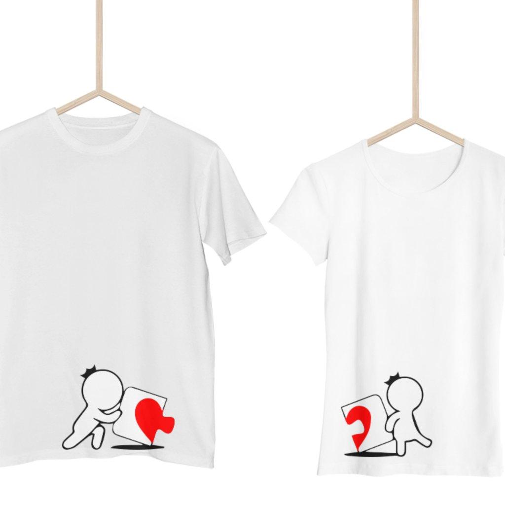 Párová trička Cards heart (cena za obě trička)