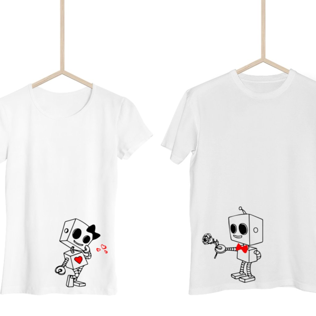 Párová trička Robots (cena za obě trička)