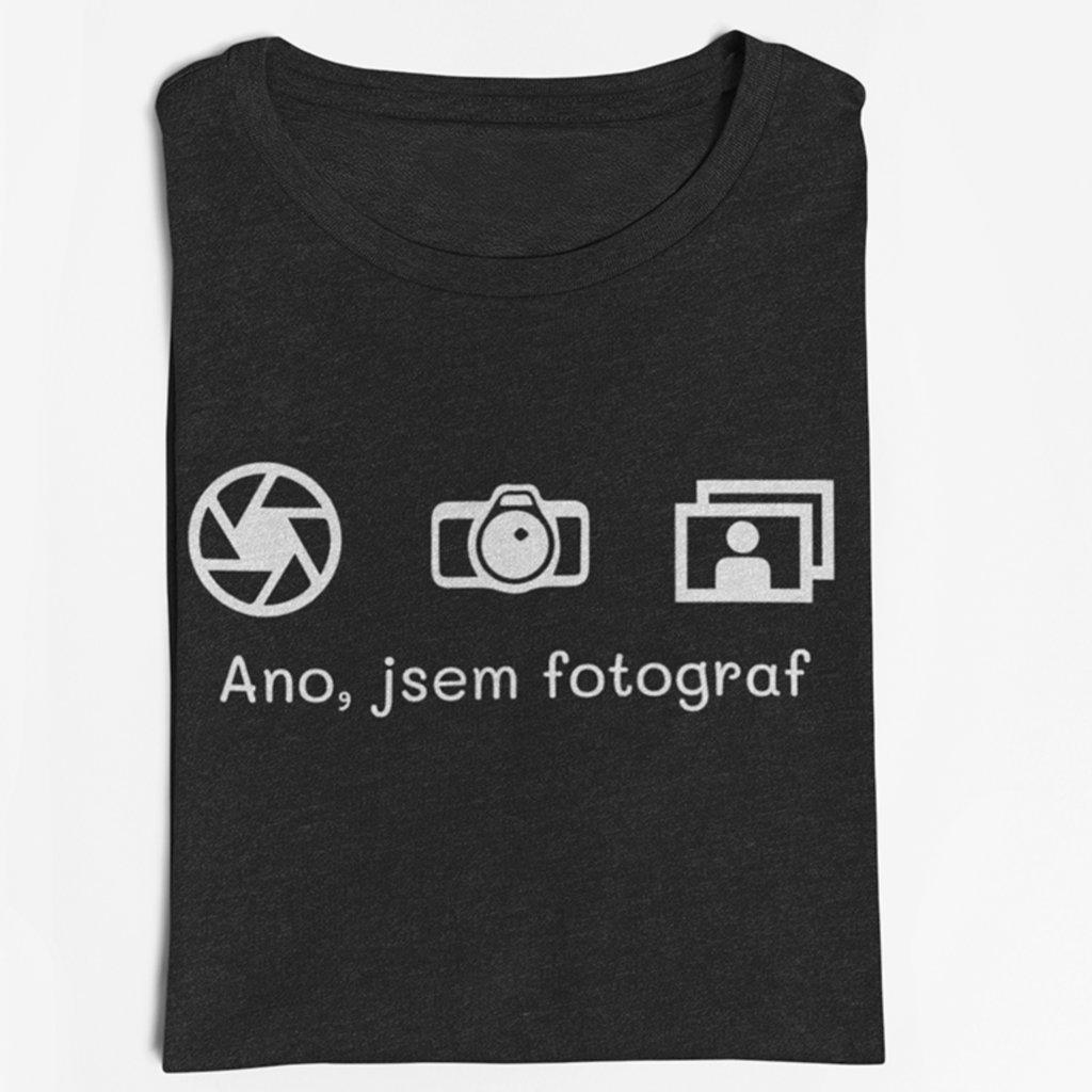 Tričko pro fotografy Ano, jsem fotograf