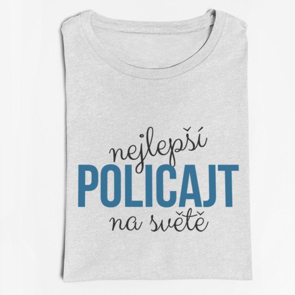 Pánské tričko nejlepší policajt na světě