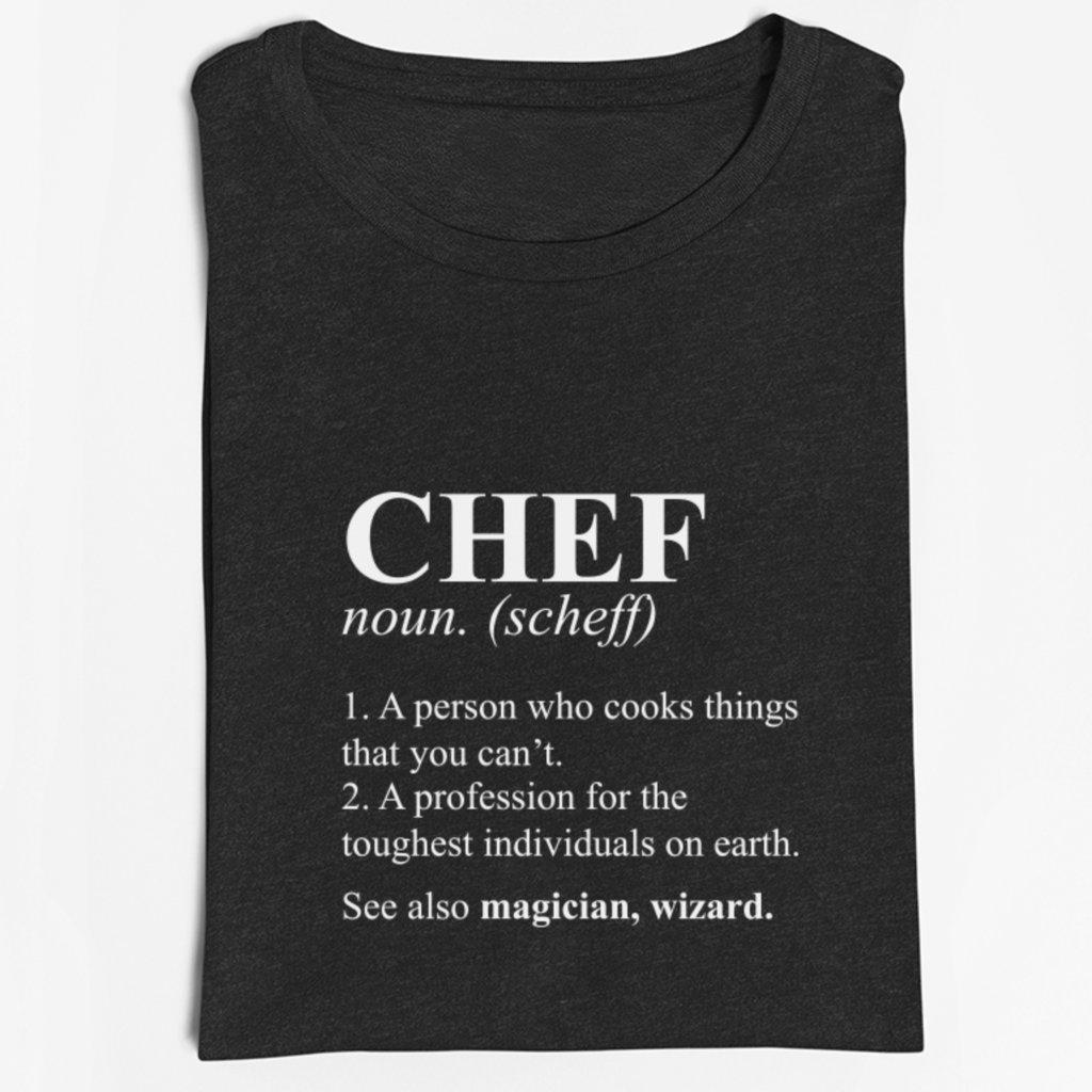 Pánské/dámské tričko Chef dictionary definition