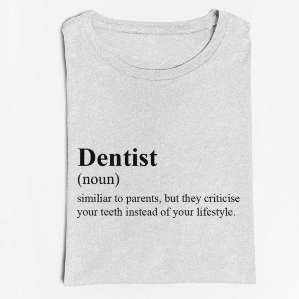 Pánské/Dámské tričko Directionary definition Dentist
