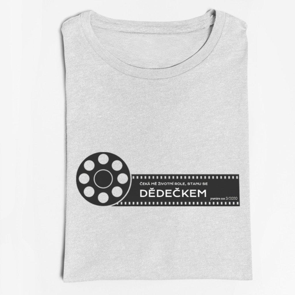 Pánské tričko Čeká mě životní role-dědeček