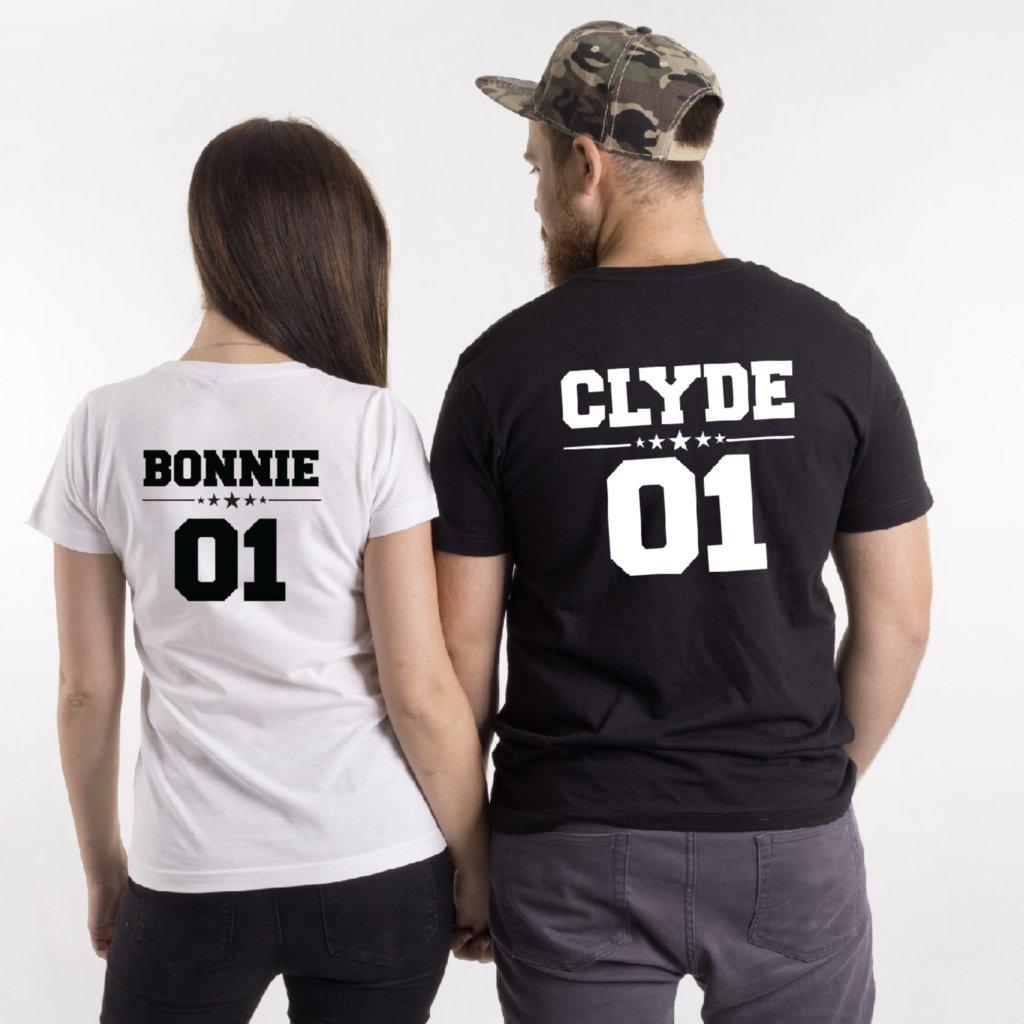 Trička Bonnie & Clyde (cena za obě trička)