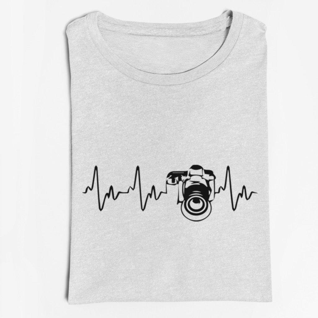 Pánské/Dámské tričko EKG křivka fotoaparát