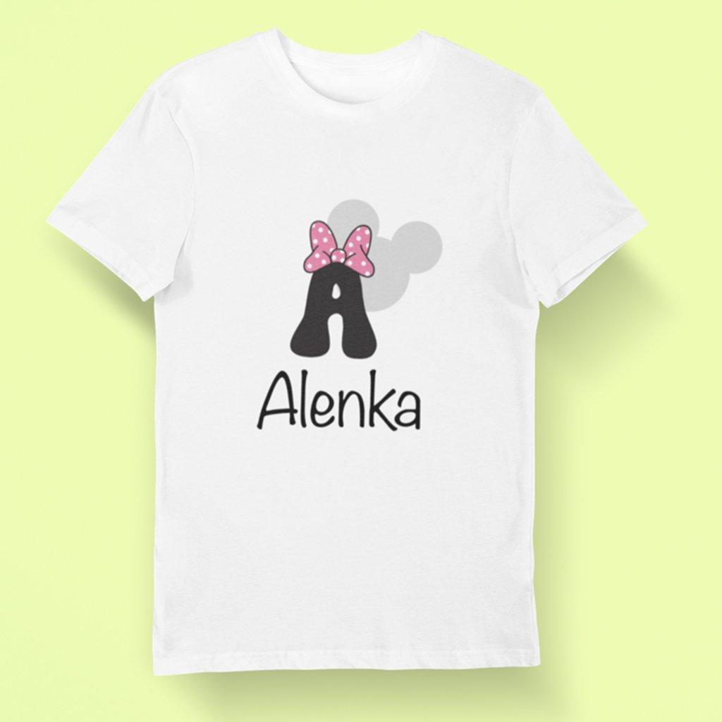Dětské tričko Minie abeceda