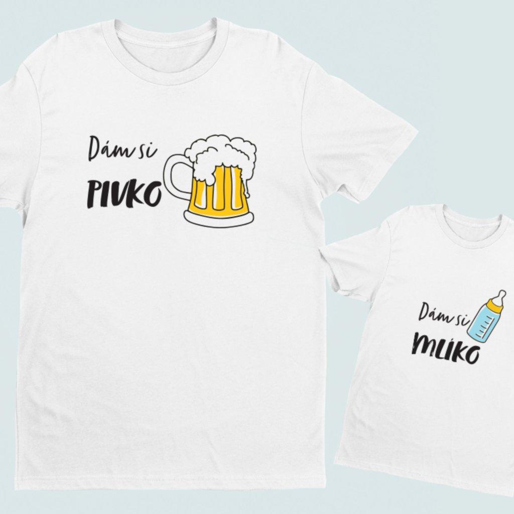 Set 2 triček Pivo a mlíko (cena za obě trička)