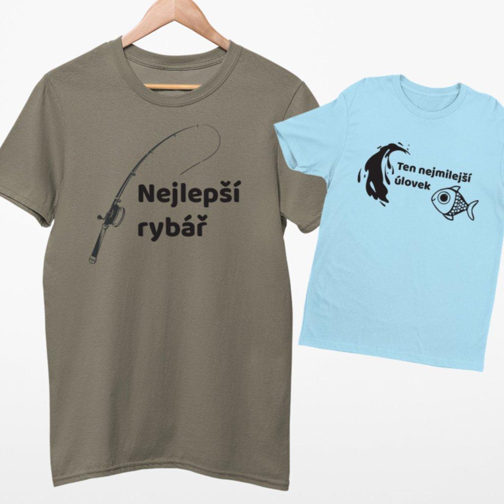 Set 2 triček Nejmilejší úlovek (cena za obě trička)