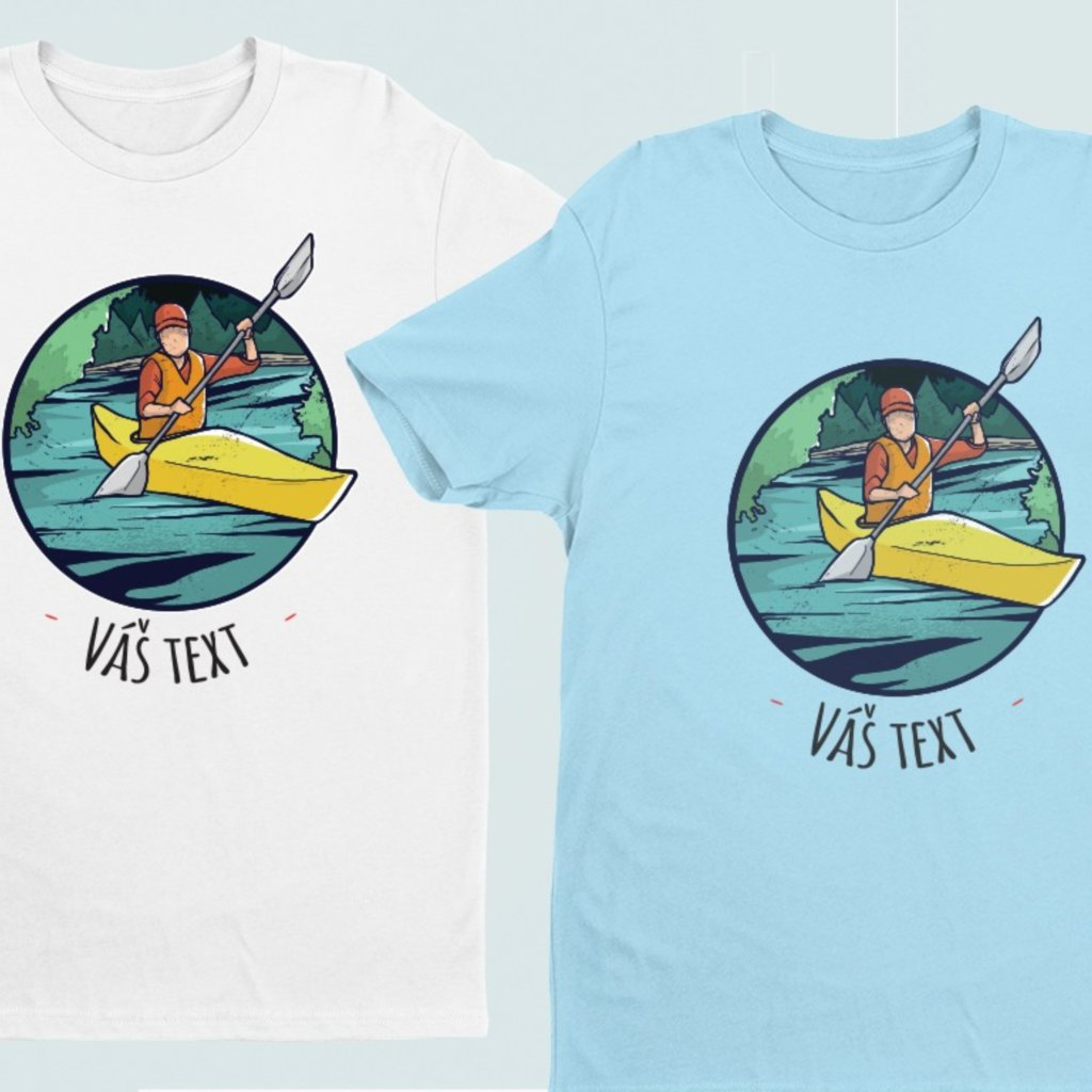 Vodácké tričko - Kanoe (potisk na přání)