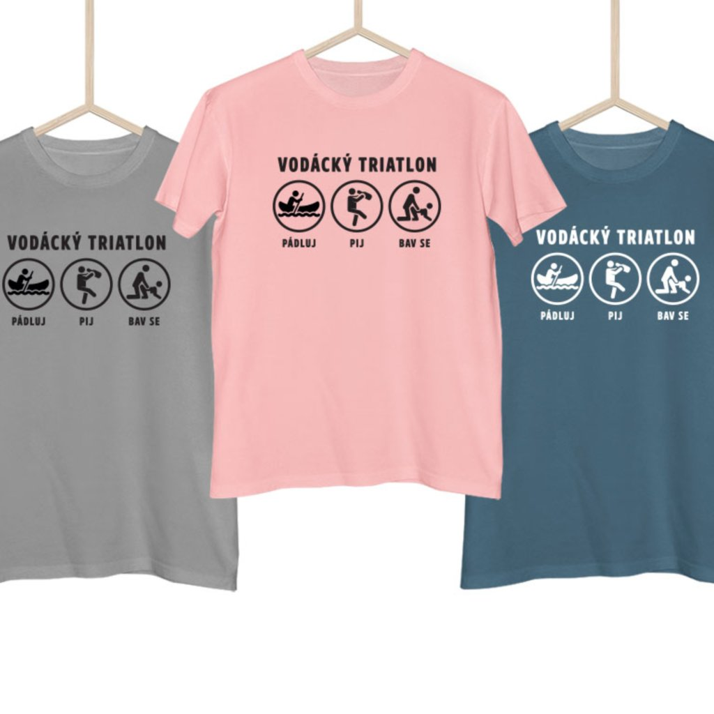 Vodácké tričko - Vodácký triatlon (jméno na záda)