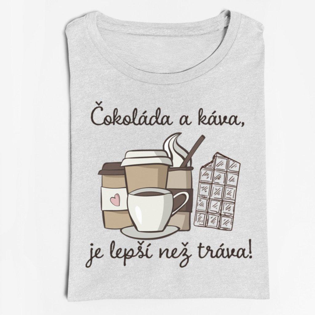 Dámské tričko Čokoláda a káva