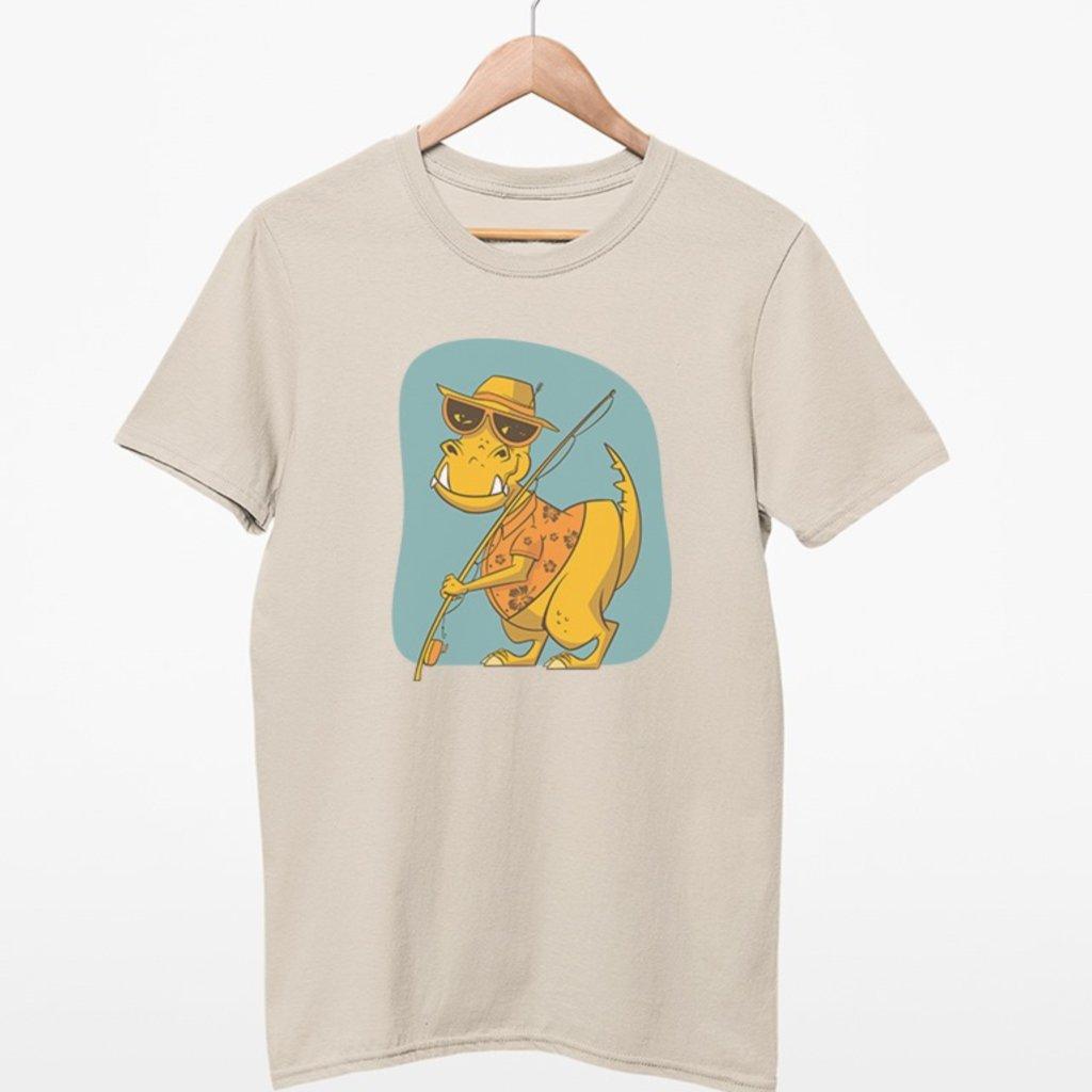 Dětské rybářské tričko - Dinosaurus
