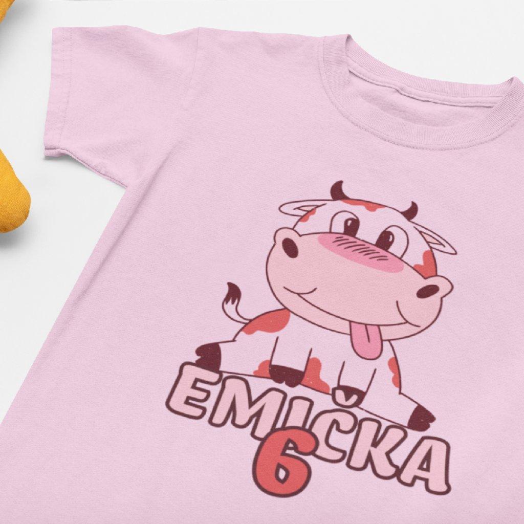 Dětské narozeninové tričko Kravička