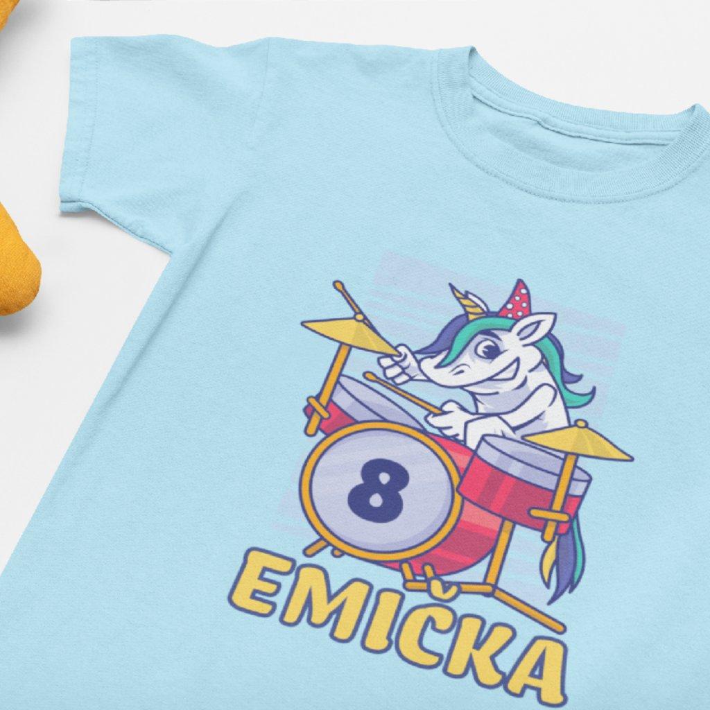Dětské narozeninové tričko Jednorožec