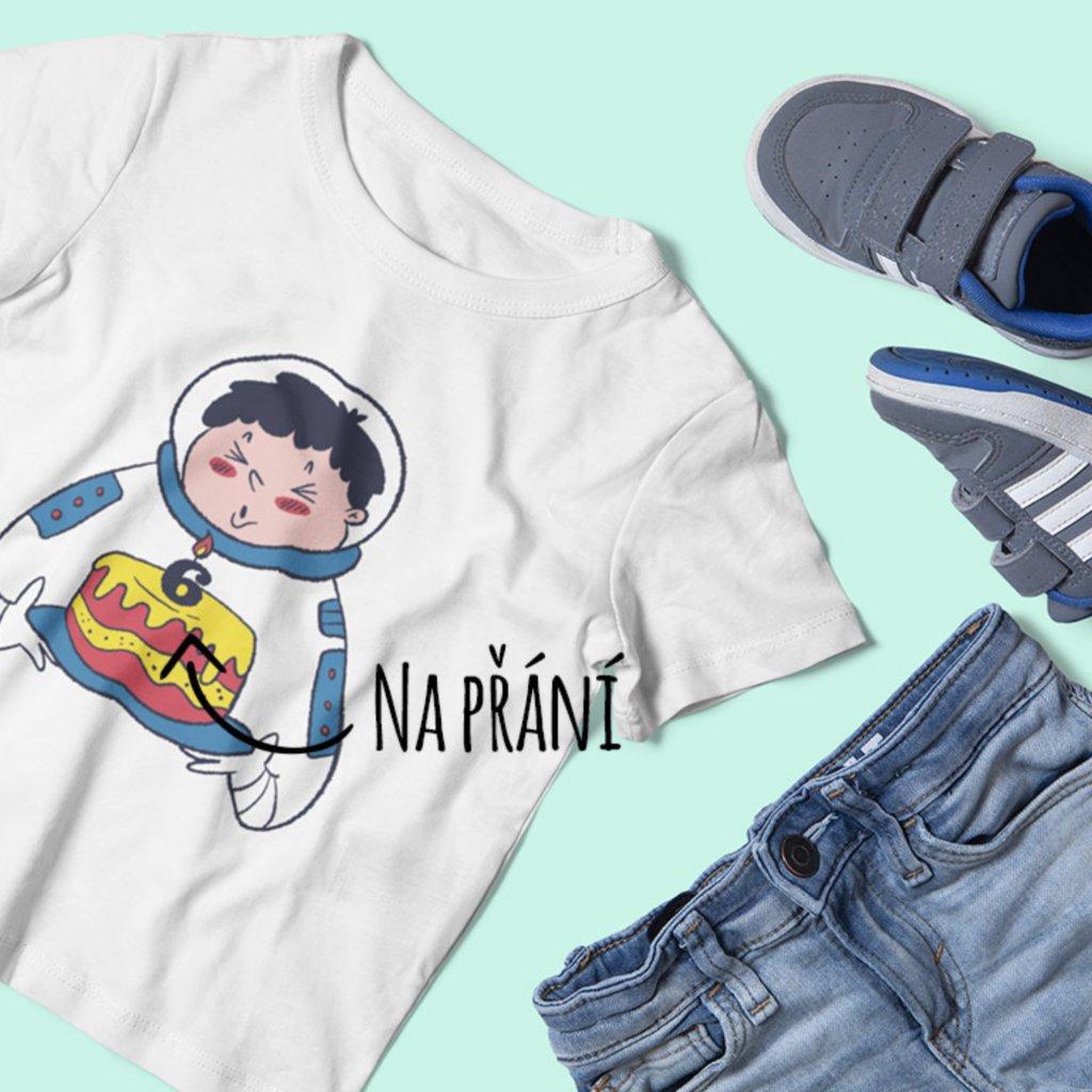 Dětské narozeninové tričko Astronaut
