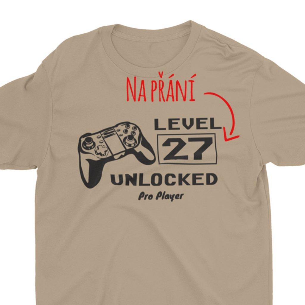 Pánské/Dámské narozeninové tričko Level unlocked