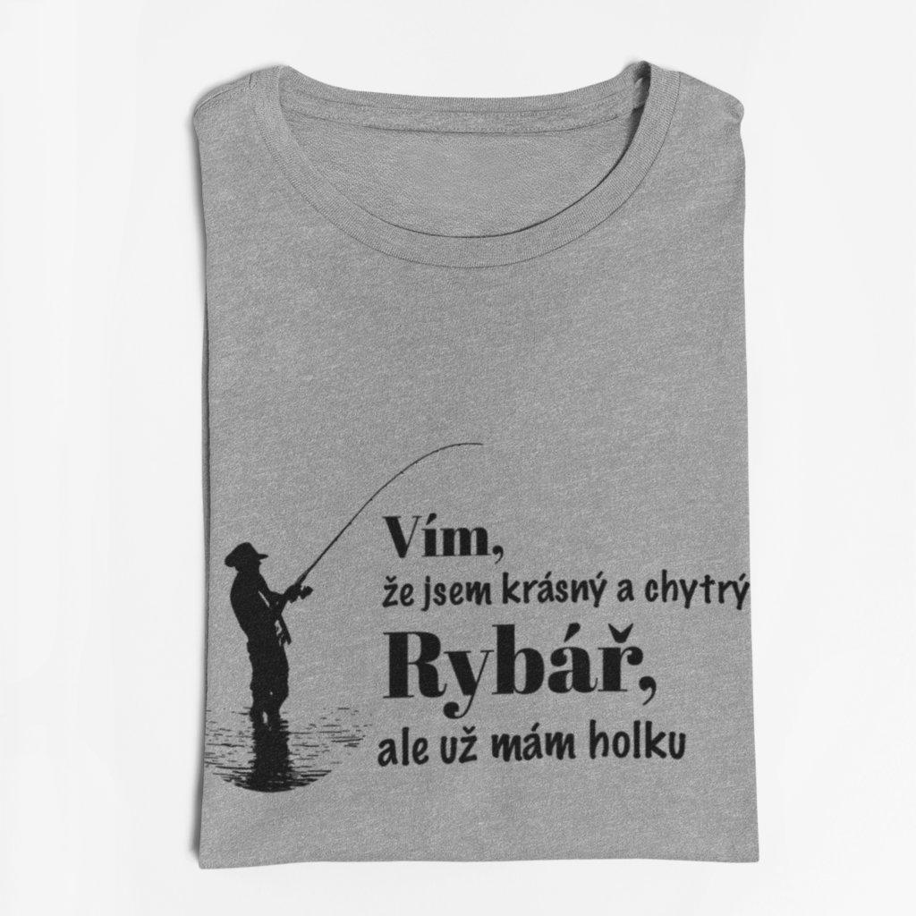 Pánské tričko Krásný a chytrý rybář