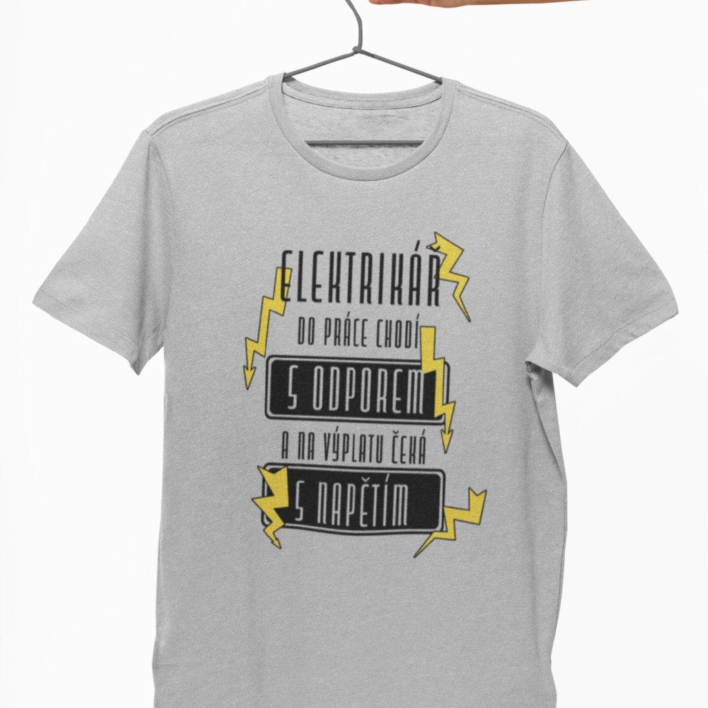 Pánské tričko Elektrikář s odporem a napětím