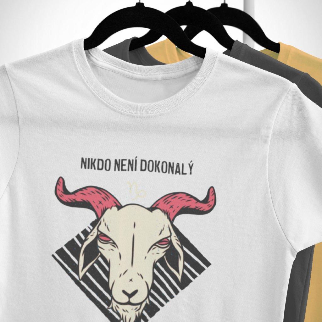 Pánské/Dámské tričko Nikdo není dokonalý - kozoroh