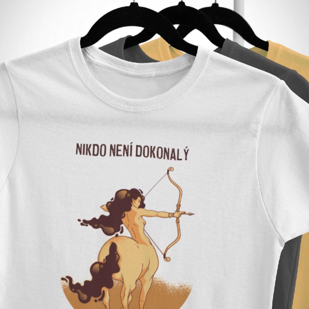 Pánské/Dámské tričko Nikdo není dokonalý - střelec