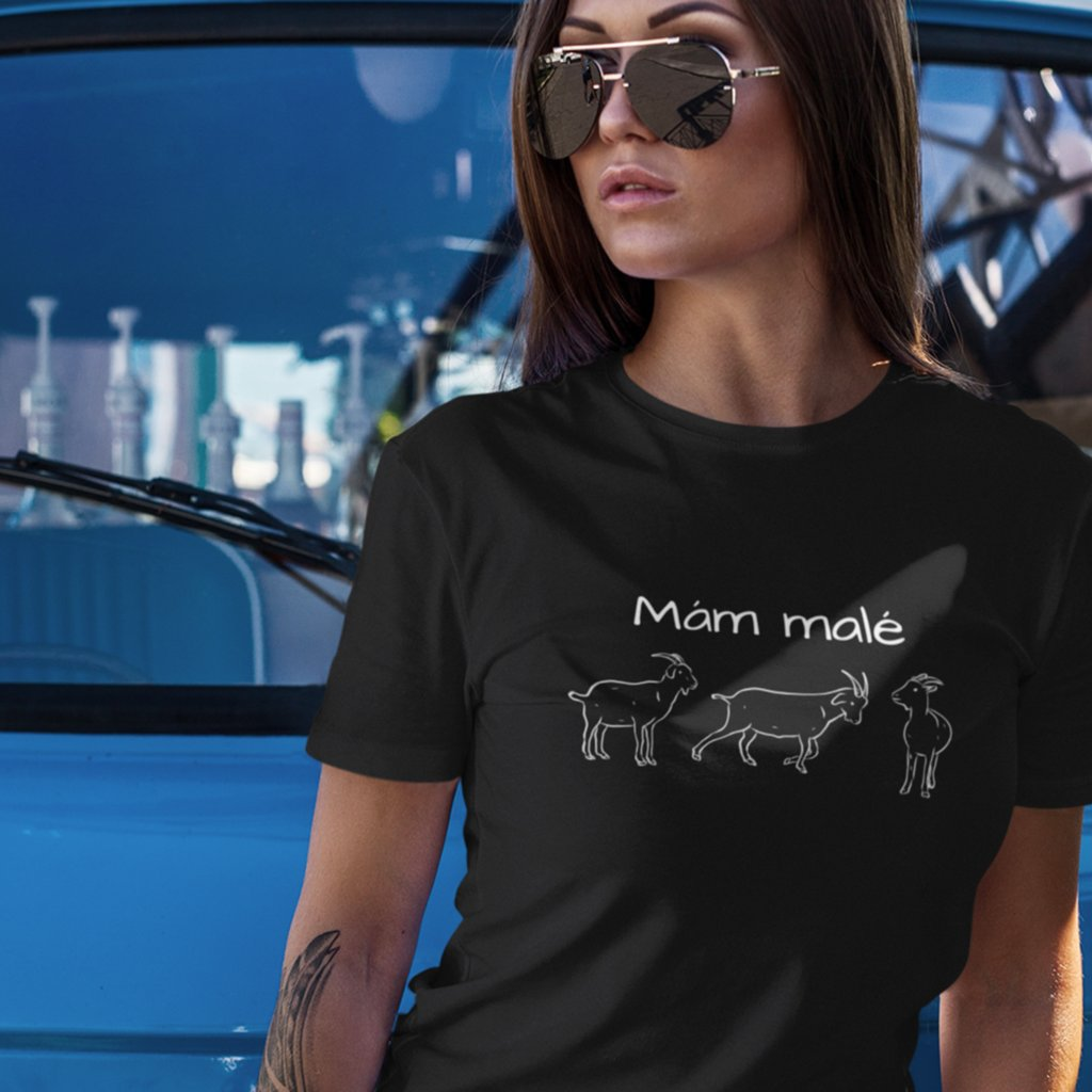 Dámské tričko Mám malé (kozy)