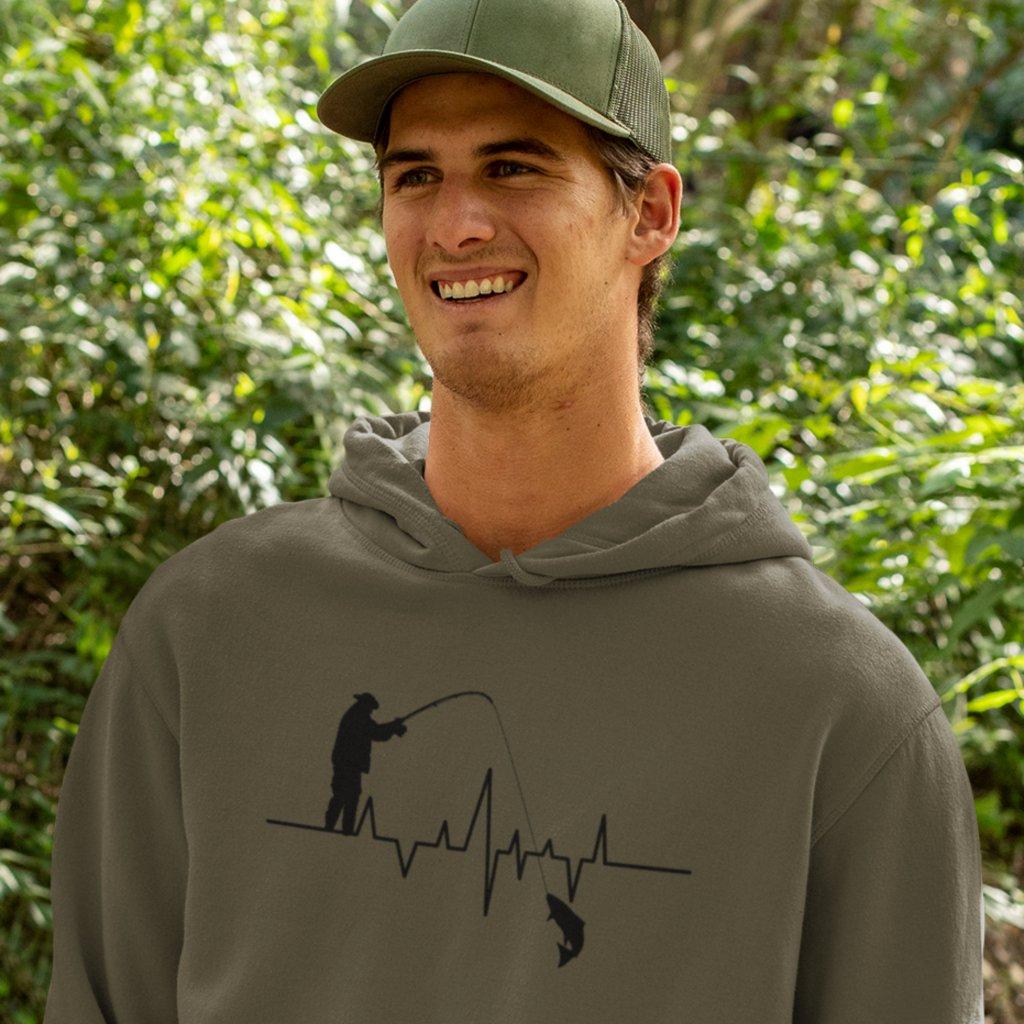 Mikina s kapucí EKG křivka rybář