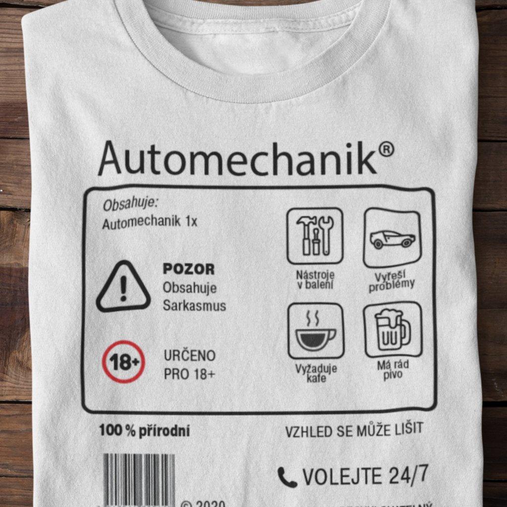 Pánské tričko Limitovaná edice - automechanik
