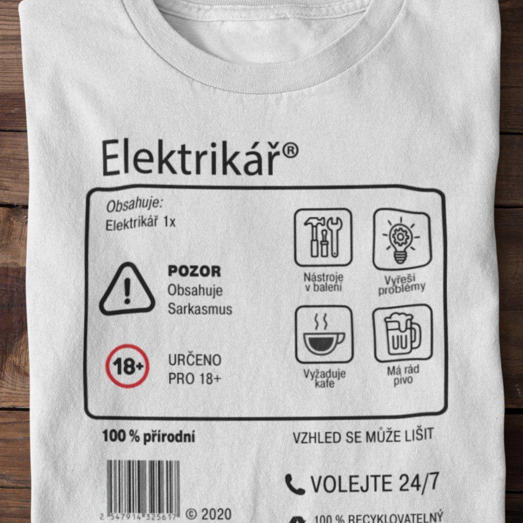 Pánské tričko Limitovaná edice - elektrikář