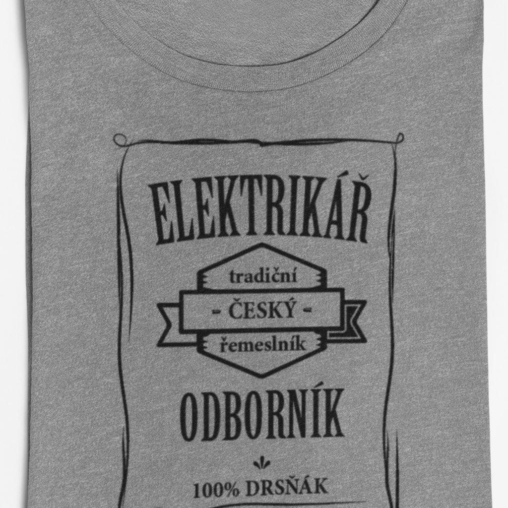 Pánské tričko Odborník - elektrikář
