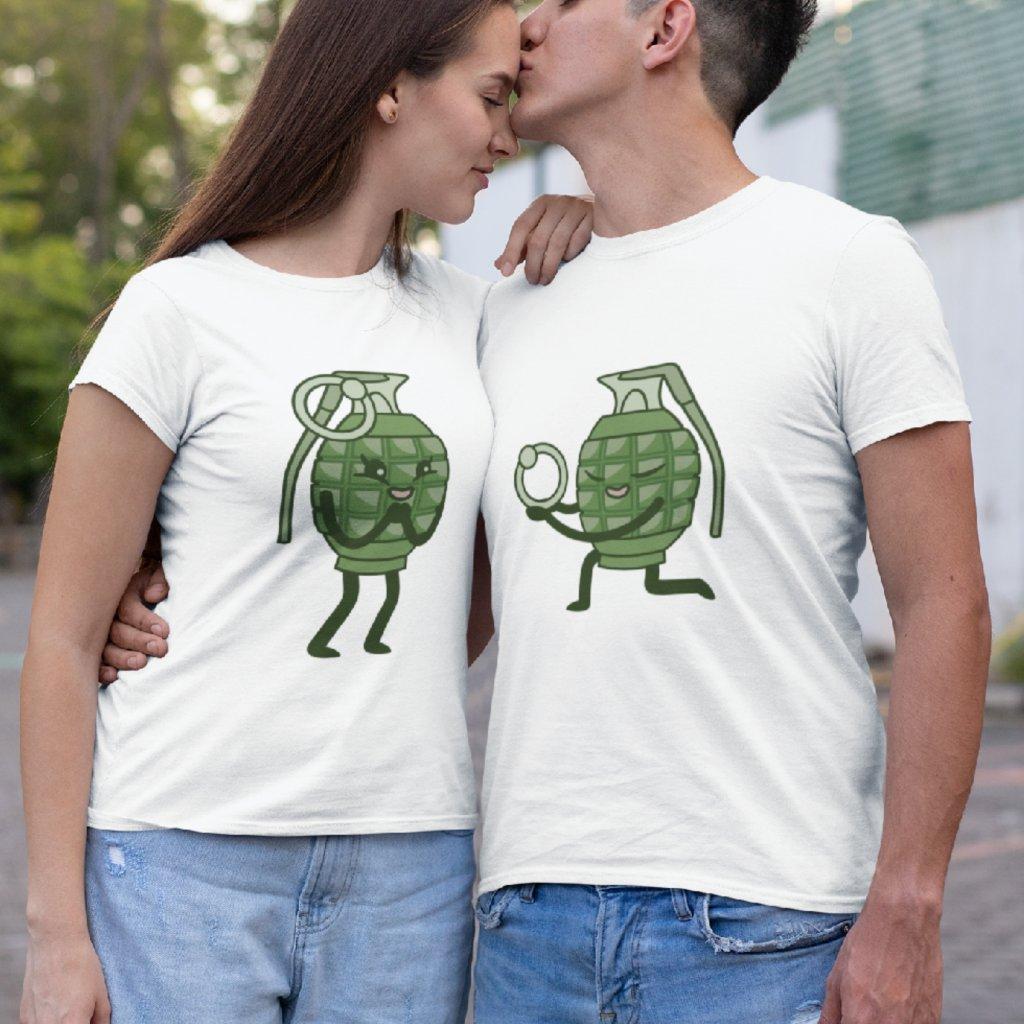 Párová trička Granáty (cena za obě trička)