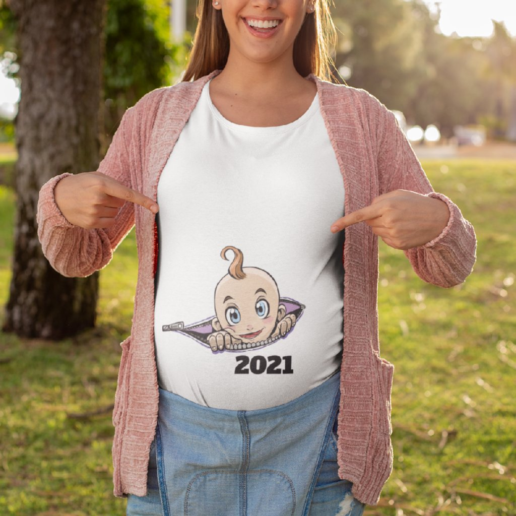 Těhotenské tričko Miminko v kapse (potisk na přání)