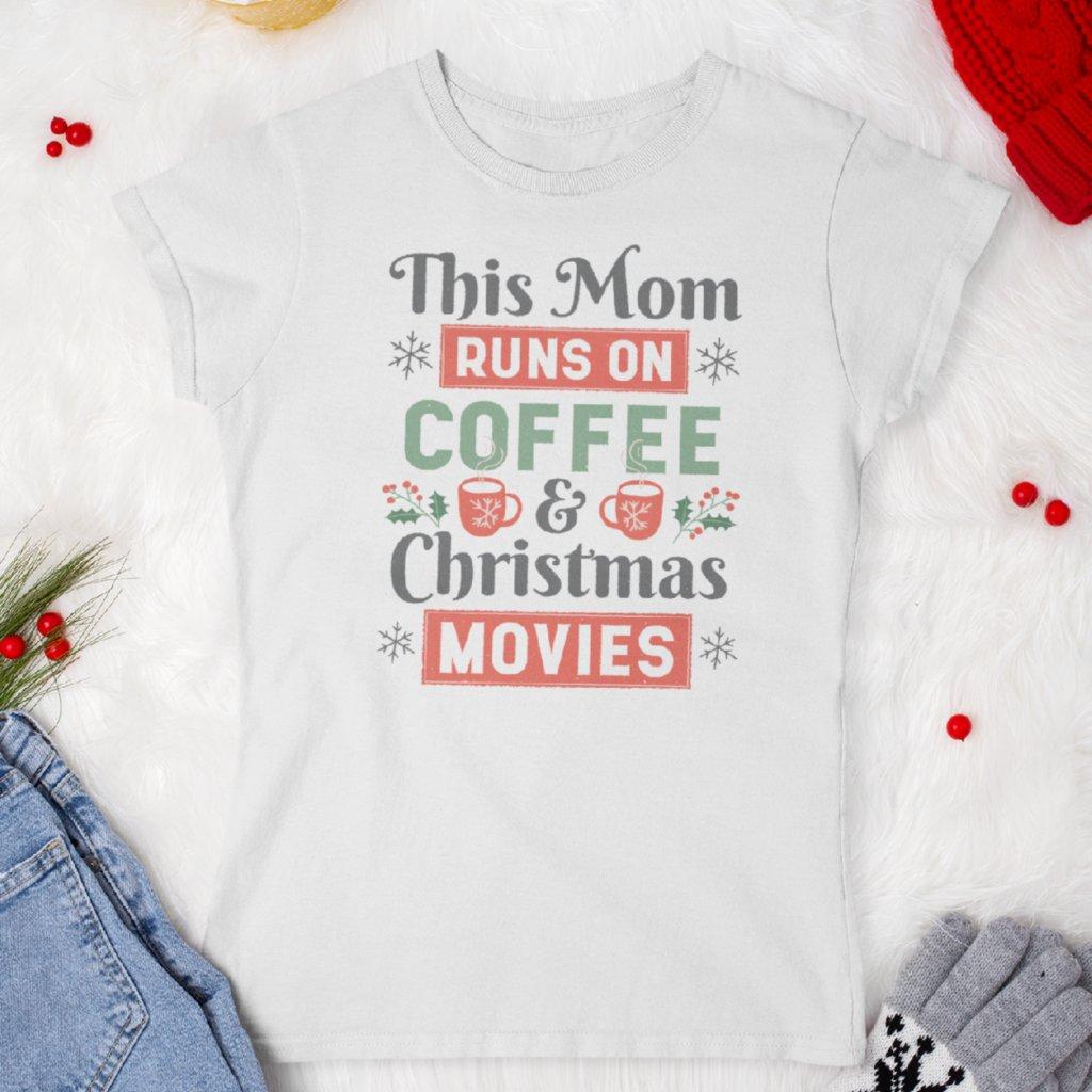 Dámské tričko Coffee and Christmas movies
