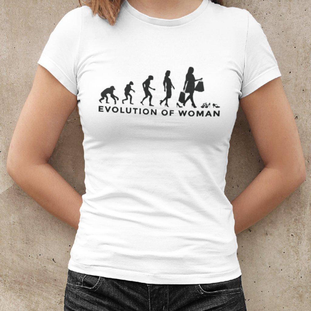 Dámské tričko Evolution of woman