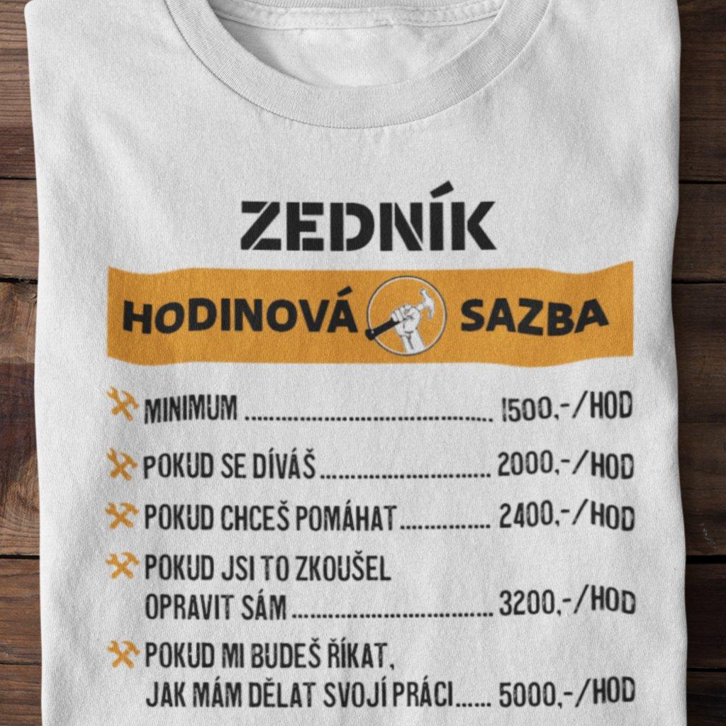 Pánské tričko Hodinová sazba - zedník