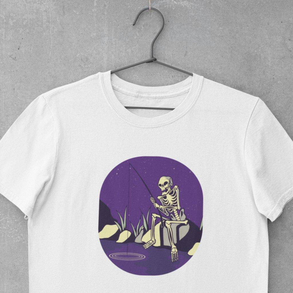 Pánské rybářské tričko - Kostlivec