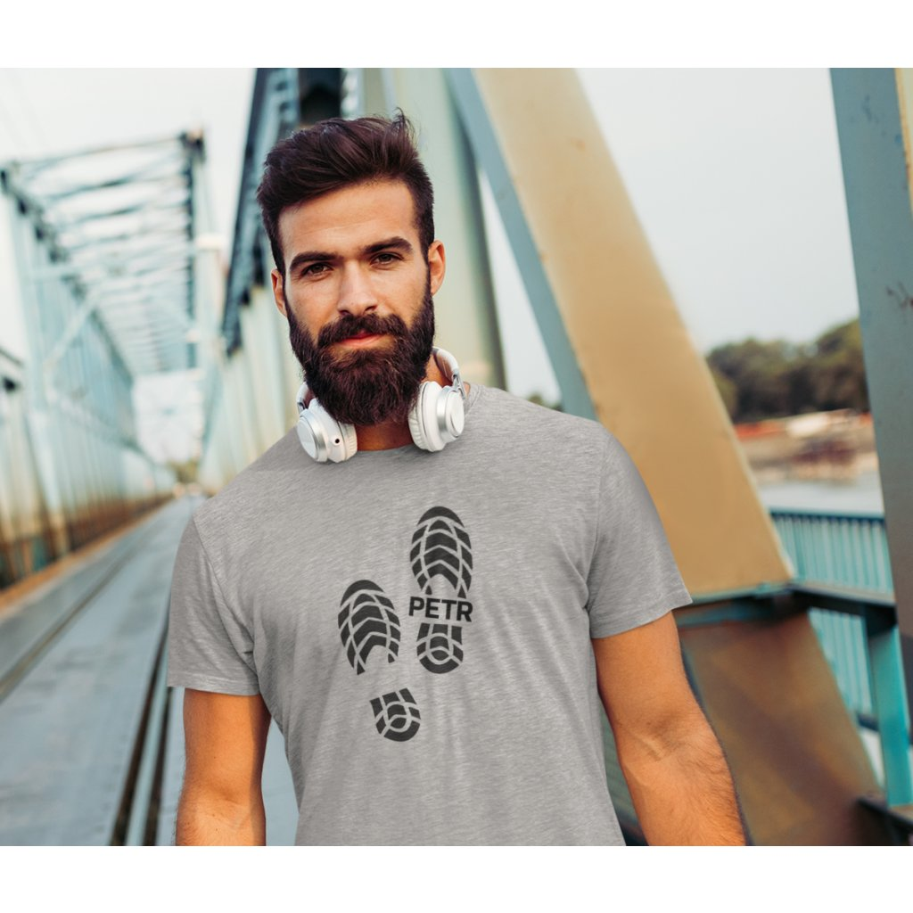 t shirt mockup featuring a bearded jogger with headphones 40696 r el2